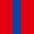 4x Bleu Roi / 1x Rouge