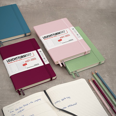 Agenda Semainier & Carnet de Notes, Anglais