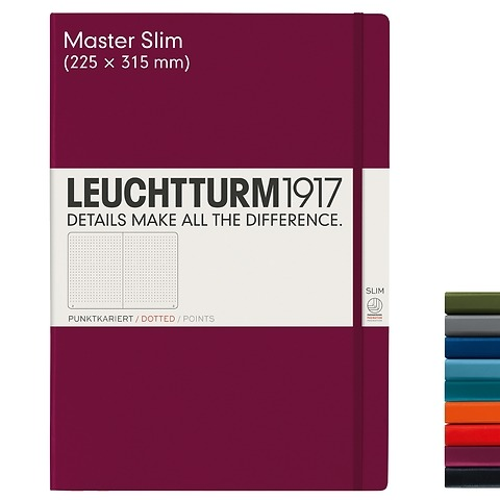 Carnet Master Slim (A4+) couverture rigide, 123 pages numérotées