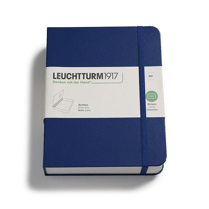 Boite de Livre, 255 x 329 x 60 mm, bleu marine