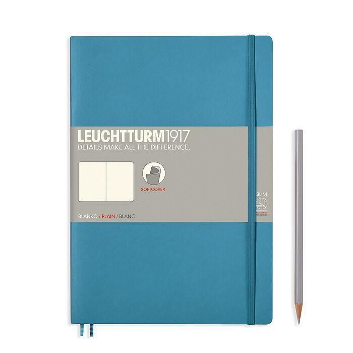Carnet Composition (B5), couverture souple, 123 pages numérotées, blanc, nordic blue
