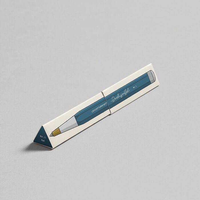 Drehgriffel Nr. 1, Stone Blue - Stylo gel avec encre noire