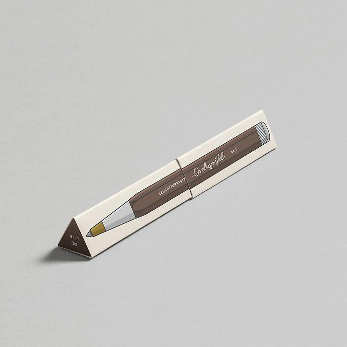 Drehgriffel Nr. 1, Warm Earth - Stylo gel avec encre noire